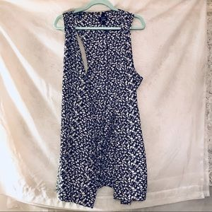 Urban Outfitters bow sleeveless long vest tunic